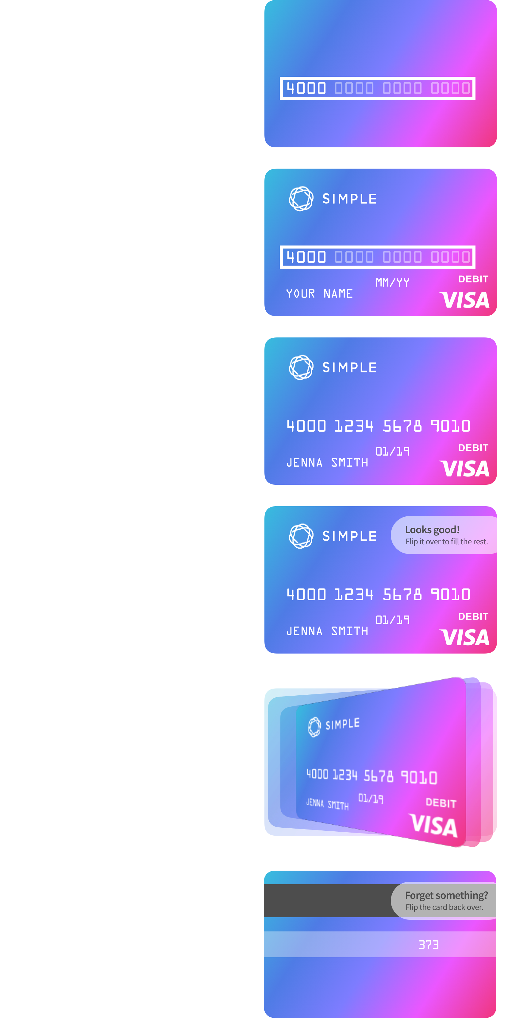 Redesigning the Credit Card Input